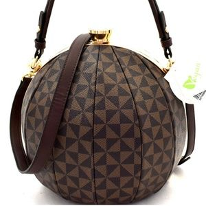 My Bag Lady Online Bags - Ball Shaped Satchel & Wallet Set